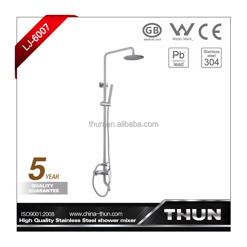 Wall mounted bath and shower faucet combination
