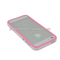 tpu pc bumper for iphone5 moq 100pcs
