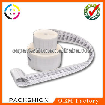 2013 Hot-sale Color Printing Paper Barcode Sticker