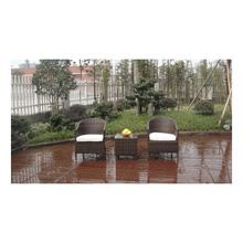 Modern 3PCS Black Rattan Cube Garden Furniture
