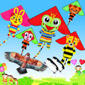 Outing animal kids kite with handle and 100m line
