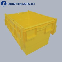 New design large industrial stackable moving plastic crate for produce