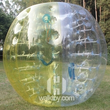 hot! 0.8mm PVC soccer bubble, soccer bubble sports domes plastic cheap bubble ball
