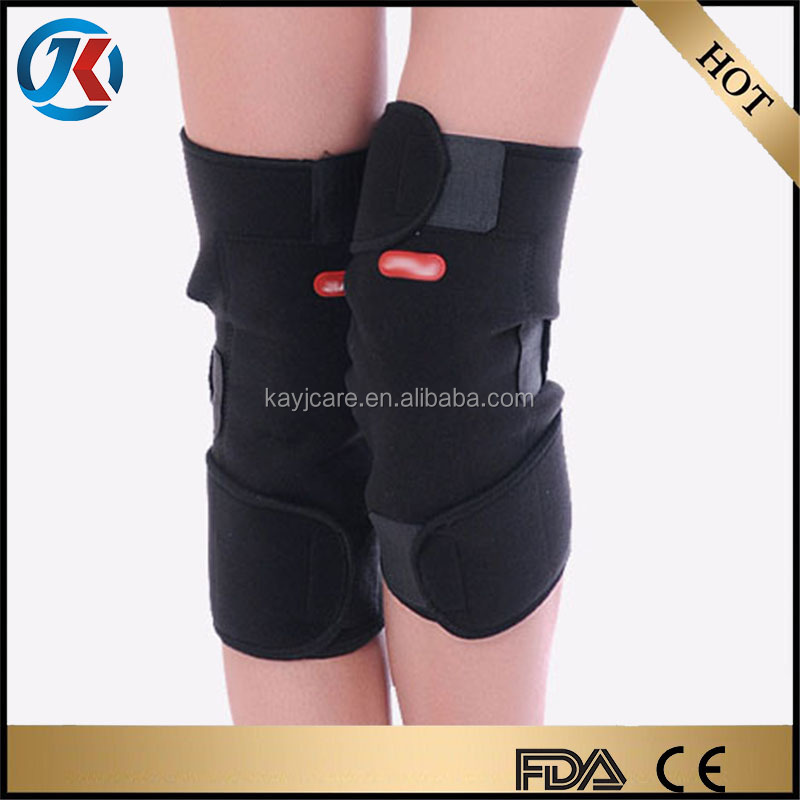 new product 2016 elastic and adjustable medical tourmaline magnetic self heating knee support belt