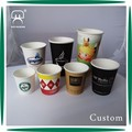 Customized disposable single wall coffee paper cups with lid