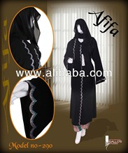 Black Abaya With Rhine Stone