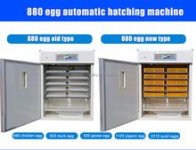 220v/110v 880 egg incubator with hatcher CE approved WQ-880