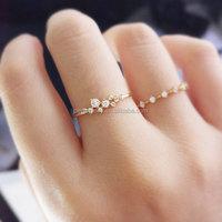 PES Fashion Jewelry! Petite Diamond Engagement Slender Delicate Ring (PES6-2051)