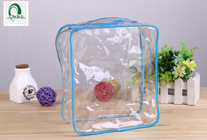 High quality Fashion New Design pvc beach waterproof cosmetic bag transparent pvc beach bag for makeup