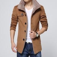 2016 China Supplier Men's Cape Cashmere Wool Winter Velvet Coat