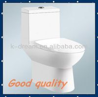 One Piece European Toilet, Squatting Ceramic Sanitary Ware Toilet