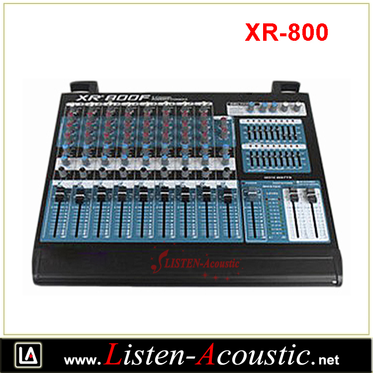 XR-800 High Quality 12 Channel Multi Powered Digital Mixer