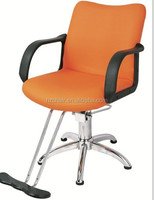 2015 PU armrest hair salon chairs with orange color