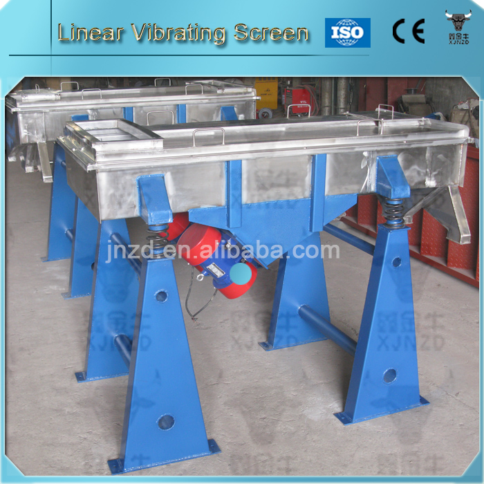 Double deck sand vibrating sieve silica sand and gravel separation machine
