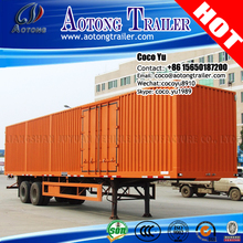 2 Axles 35ton (Step-Wise Optional)dry Van Type Station Transport semi truck cargo Wagon Trailer