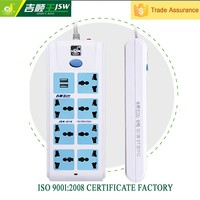 Multi electrical 250v power socket 8 pin plug and socket