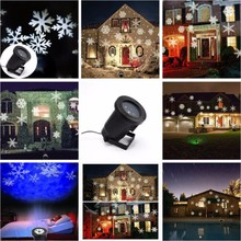Waterproof IP65 white led snowflakes light projector Christmas laser light projector outdoor Laser Garden Light