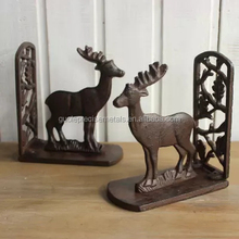 New Design Antique Cast Iron Bookends With CAST IRON DEER Bookends For Hotel Home Interior Table Decoration Wholesale