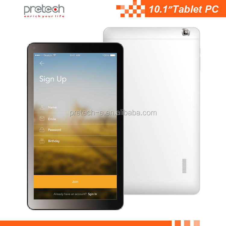 Quad core 10.1 inch Tablet PC with android 5.1 MTK8735 chipset dual SIM card