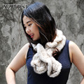 CX-S-83B Elegant White 80*12CM Knitted Real Mink Fur Scarf