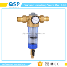 JUNXIANG washing machine pre water filter with pressure gauge