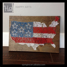 American Flag with the United States String art