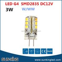 Promotional smd2835 white 12v led light g4 3W