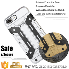 Armor Impact Heavy Duty Rugged Hybrid Hard Case Card Slot Stand Case For iPhone 7 Plus