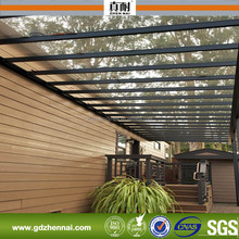 Polycarbonate solid sheet patio cover