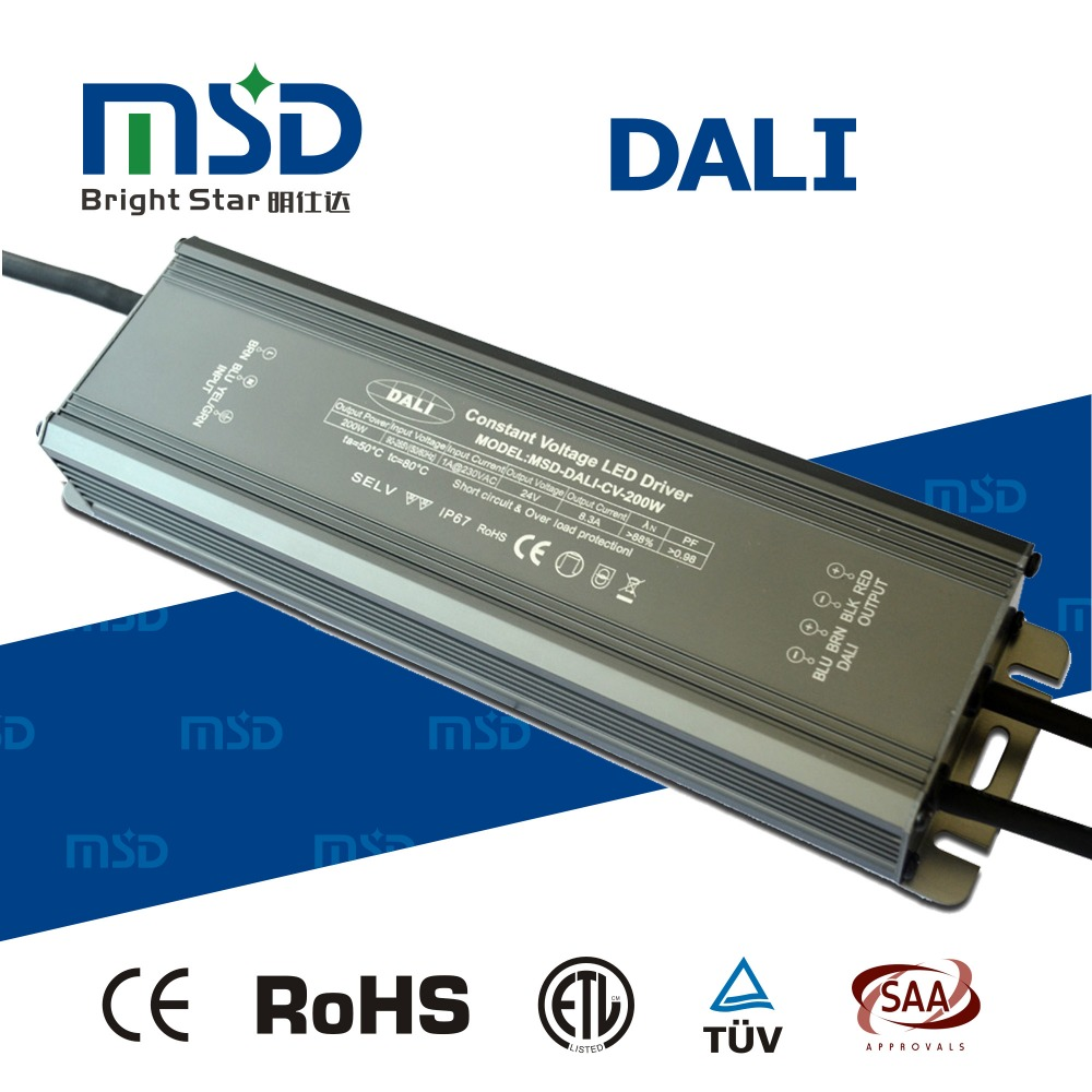 12v 200w led power supply 24v dali dimmable multi channel output led driver