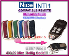For Nice INTI1 Garage Door compatible Remote Control 433,92mhz
