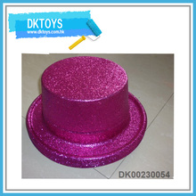 Hot Sale Fun New Item Shiny Gold Pink Party Decoation Christmas Gift For Kids Cute Top Hat Kids Toys