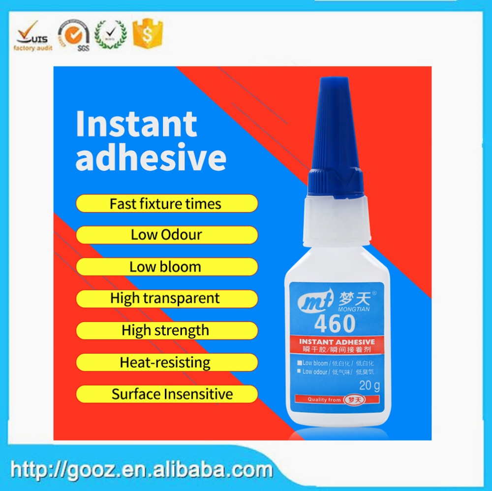 High quality 460 instant adhesive (glue)/cyanoacrylate adhesive (glue)/super glue 401 instant adhesive