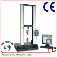 PC type Twin column load frame with 10kN tensile strength and tear strength test machine
