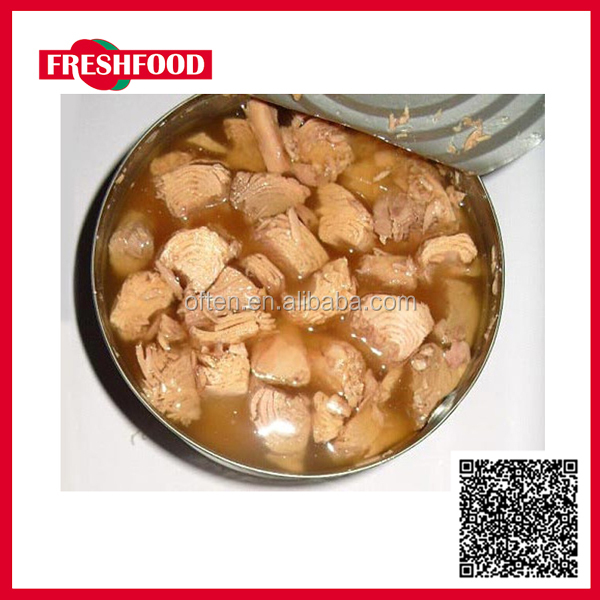 Fresh Food Canned Light Meat Bonito Chunk in Vegetable Oil