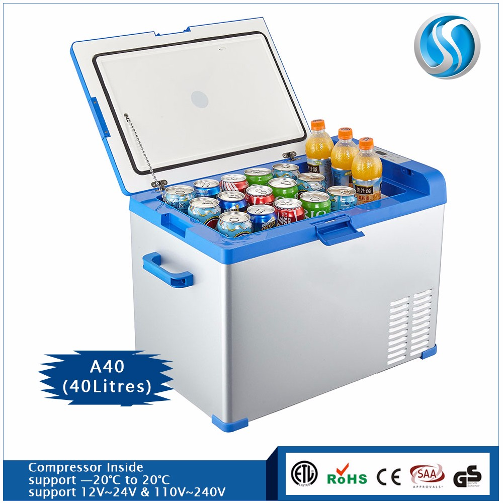 portable deep freezer 12v fridge slide esky scooter mini battery operated cooler 40L refrigerator and freezer