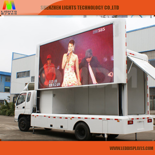 Electronic advertising P8 large mobile food trucks complete Led screen