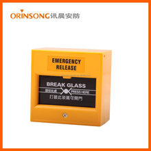 break glass fire alarm button manual call point/fire alarm button with CE approval