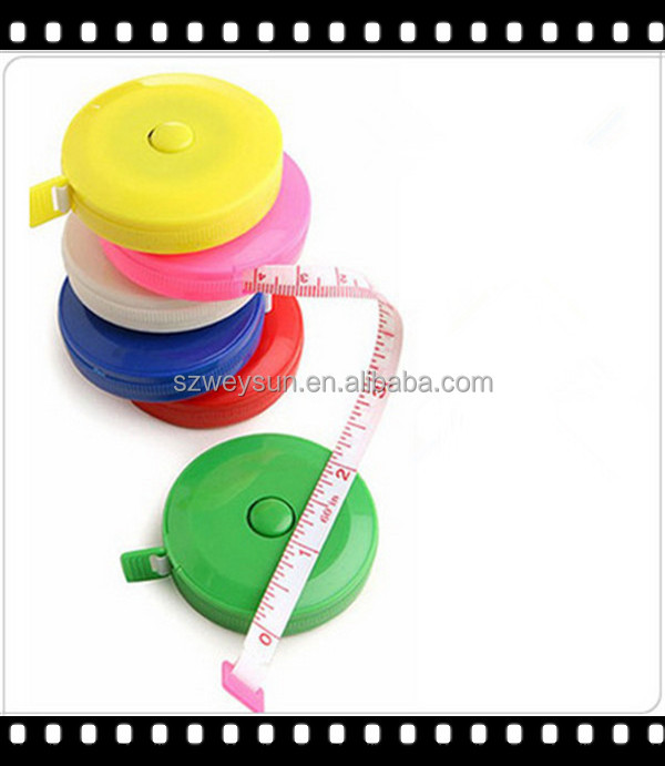 New Retractable Ruler Tape <strong>Measure</strong> 60 inch Sewing Cloth Dieting Tailor 1.5M DHL free shipping
