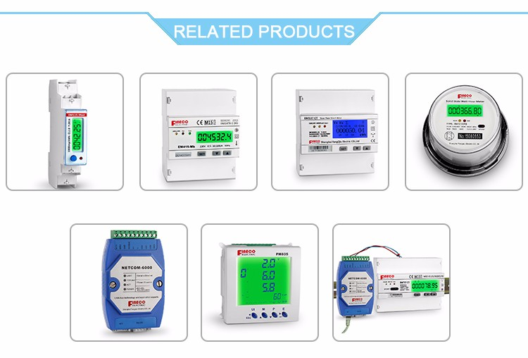 EM737 CT 3*230/400V 1.5(6)A LCD display electrical energy smart meter