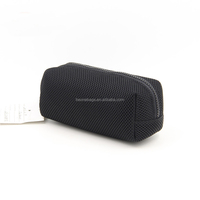 Custom All Black New Design Cheap Sanwich Mesh Pencil Case Bag
