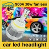 waterproof 9004 hi/lo led headlight for car 30w 3600lm customized color