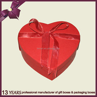 Lovely fancy heart paper chocolate gift packaging box
