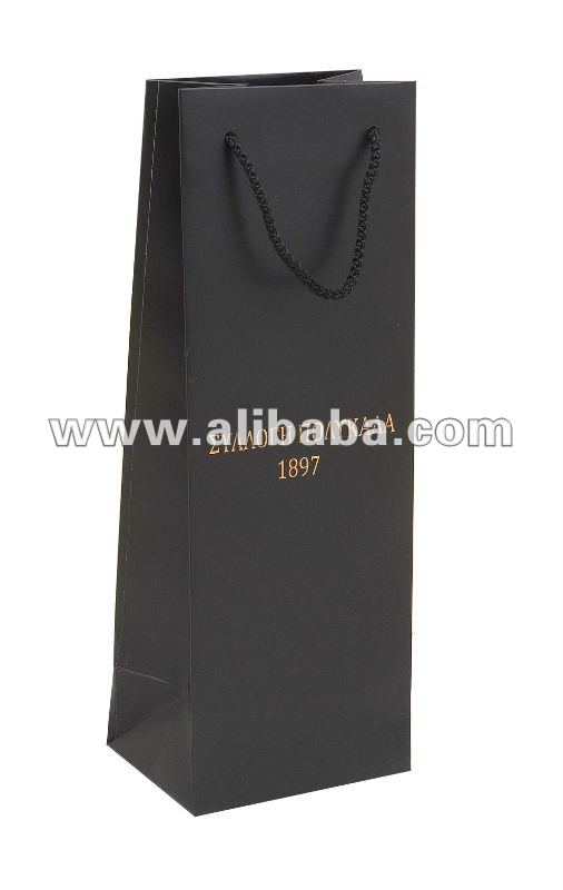 Quality Custom Promotion Single Wine Bottle Paper Bag