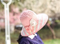 fashion cheap summer ladies hats wholesale beach cotton hat
