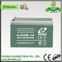 wholesale 6-DZM-14 agm vrla battery for passenger tricycle