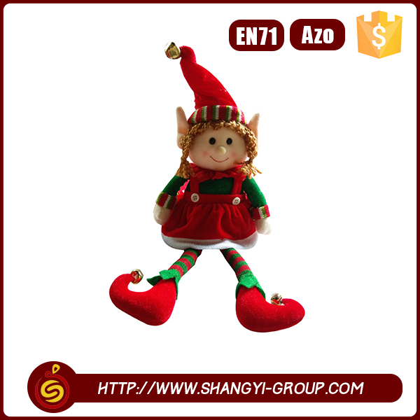 Cheap fashionable kids gift lovely red hat girl elf doll plush toy