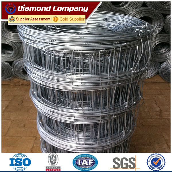 OA payment 8ft hight high tensile strength wire Canada market galv page wire fence
