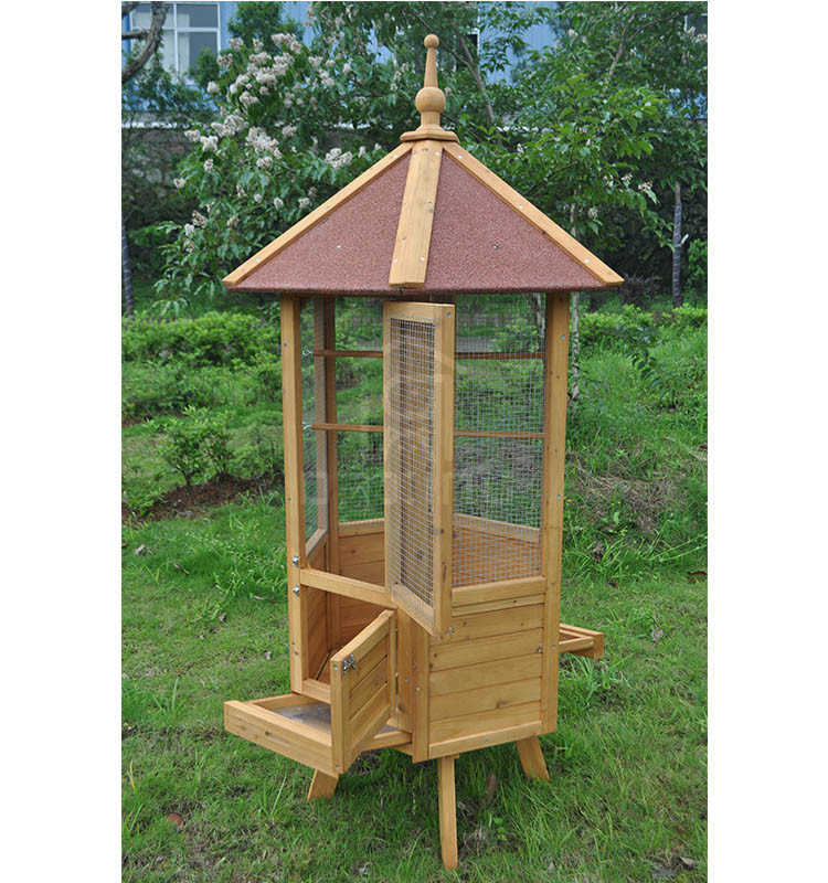 Large Chinese Wooden Bird Cage