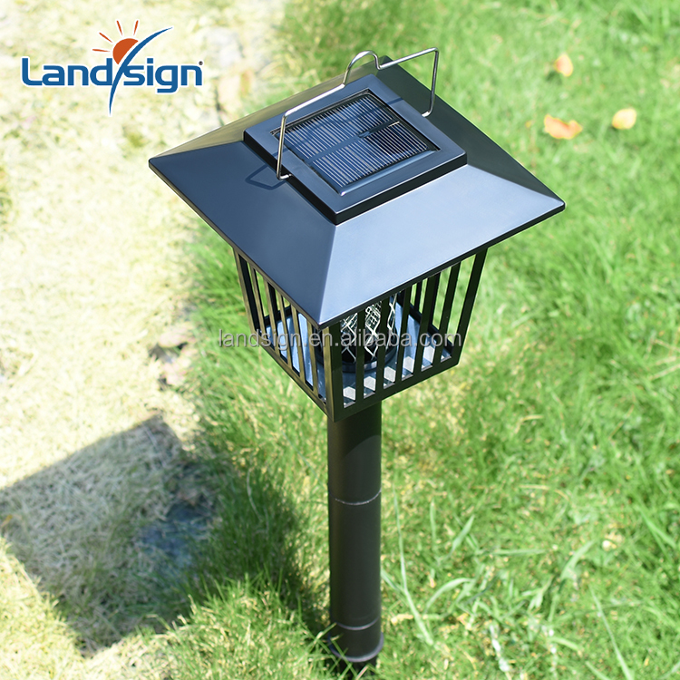 Hot Sale XLTD-101-1 LED Outdoor Solar Panel Mosquito Insect Pest Killer Garden Lawn Yard Light Lamp